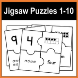 Jigsaw Puzzles 1-10 - Tens Frame, Numeral, Place Value Blo