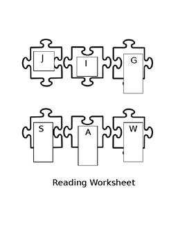 Jigsaw Reading Worksheet