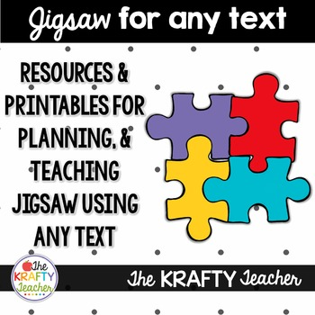 Research Based Cooperative Learning Strategy Jigsaw, EDITABLE, for 4th, 5th, 6th