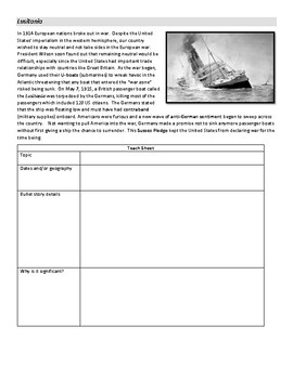 Jigsaw activity- American entry into WWI