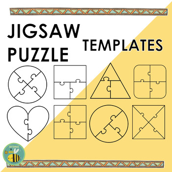 Jigsaw puzzle clipart {templates}
