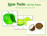 Jigsaw puzzles for kindergarten & 1st grade students with