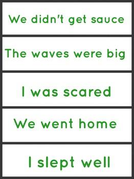 Jigsaw sentences connectives VCOP