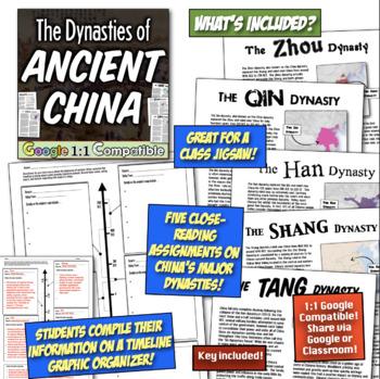 Han, Qin, Zhou, & Shang Dynasties of Ancient China! Ancient China Jigsaw Lesson!