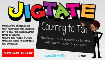 Jigtate -5 Puzzles for PCs Practice Numbers & Sums (1 - 10)