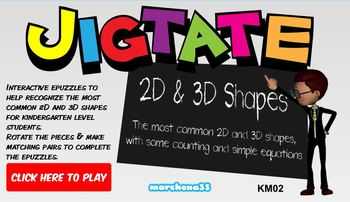 Jigtate -5 Puzzles for PCs Practice Shapes - 2D Shapes & 3