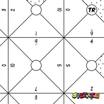 Jigtate Printables - 2 Numbers That Equal 10 Puzzle Sheets (KMP06)