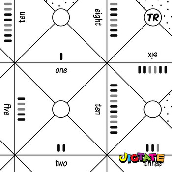 Jigtate Printables - Counting Objects One-Ten Puzzle Sheets (KMP03)
