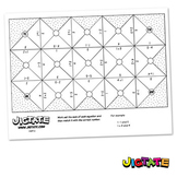 Jigtate Printables - Equations Using Numbers 1-5 Puzzle Sh