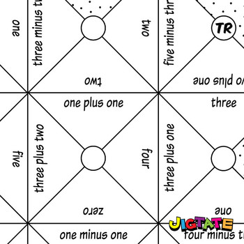 Jigtate Printables - Equations Using Numbers One-Five Puzzle Sheets (KMP05)