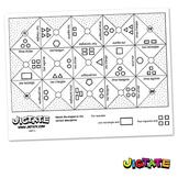 Jigtate Printables - Multiple 2D Shapes Puzzle Sheets (KMP14)