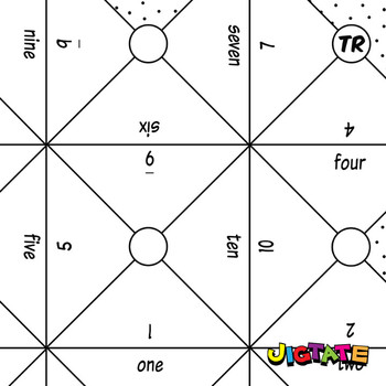 Jigtate Printables - Numbers 1-10 Puzzle Sheets (KMP01)
