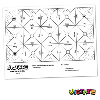 Jigtate Printables - Numbers 10-100 (Divisible by 10) Puzz