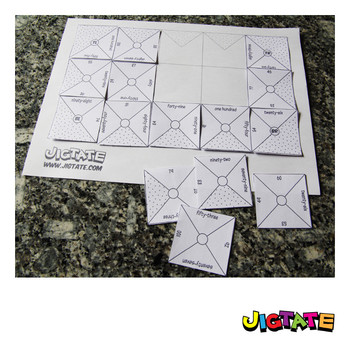 Jigtate Printables - Two Numbers That Equal Ten Puzzle Sheets (KMP07)