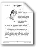 Jim Abbott: Baseball Pitcher