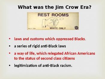 Jim Crow Era PPT