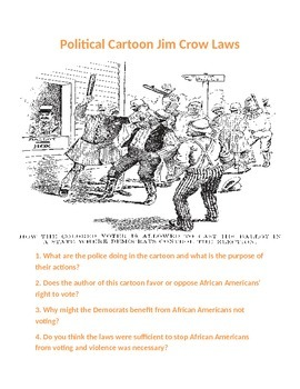 Jim Crow Laws Activity