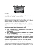Jim Crow Laws Article