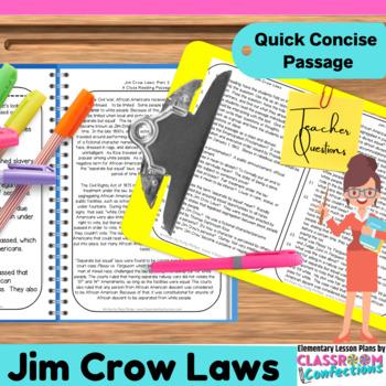 Jim Crow Laws: Passage
