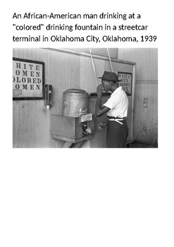Jim Crow Laws Picture Pack