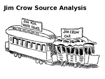 Jim Crow Laws Source Analysis Activity