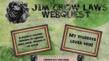 Jim Crow Laws Webquest