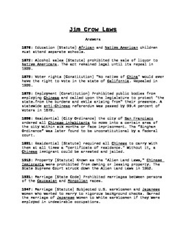 Jim Crow Laws of the West