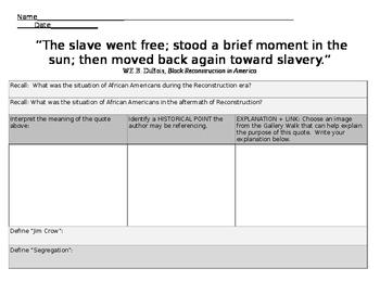 Jim Crow - Quote Analysis