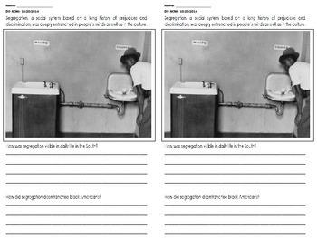 Jim Crow - Segregation Question