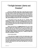 "Jim Crow: ""Twilight between Liberty and Freedom"""