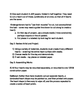 Jim Dine Hearts - Texture Rub