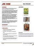 Jim Dine Informational Worksheet