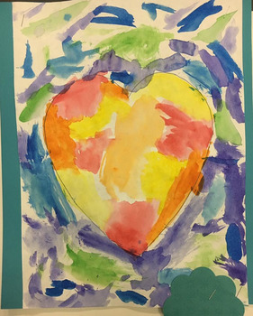 Valentine's Day Art Project  Jim Dine Warm/Cool Watercolor Hearts