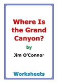 """Jim O'Connor """"Where Is the Grand Canyon?"""" worksheets"""