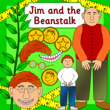 Jim and the Beanstalk book study pack- growing, measurement