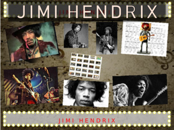 Jimi Hendrix: 25 slides with text, hyperlinks & primary sources (with handouts)