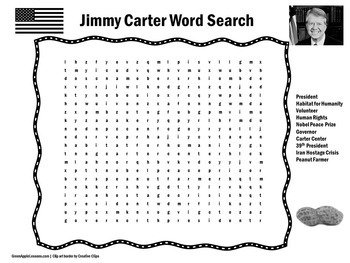 Jimmy Carter Activity | Jimmy Carter Word Search