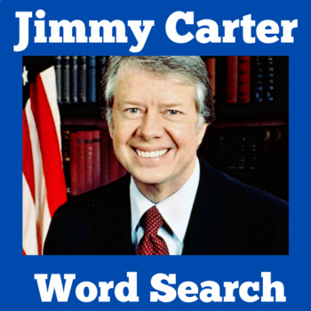 Jimmy Carter Activity | President Jimmy Carter Word Search