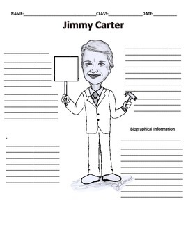 39th President - Jimmy Carter Graphic Organizer