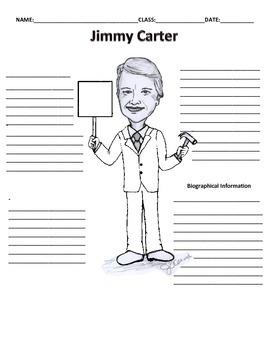 39th President - Jimmy Carter Graphic Organizer