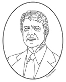 Jimmy Carter (39th President) Clip Art, Coloring Page or M