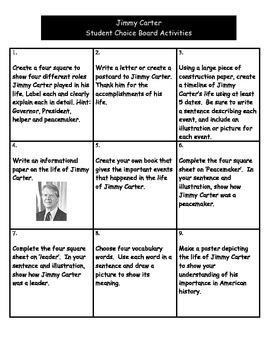 Jimmy Carter - Choice Board