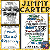 Jimmy Carter Coloring Page and Word Cloud Activity