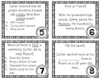 Jimmy Carter SCOOT Task Cards