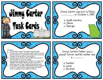 Jimmy Carter Task Cards