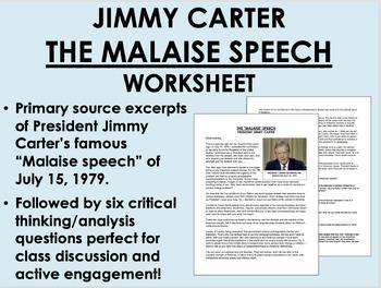 """The Malaise Speech"" - Jimmy Carter - Crisis of Confidence 1970s - USH/APUSH"