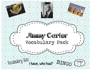 Jimmy Carter Vocabulary Pack