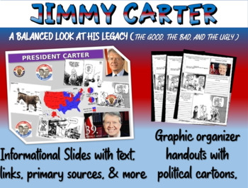 Jimmy Carter: quotes, cartoons, foreign/domestic legacy PP