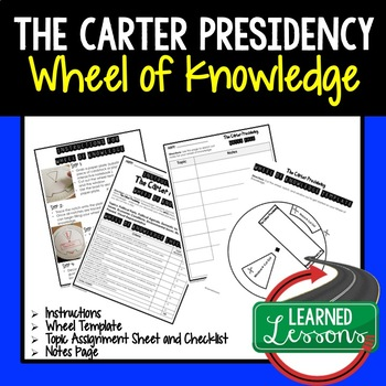 Jimmy Carter's Presidency Activity, Wheel of Knowledge (Interactive Notebook)