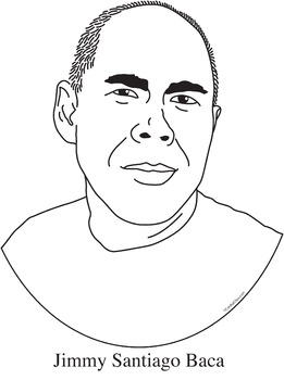 Jimmy Santiago Baca Clip Art, Coloring Page, and Poster